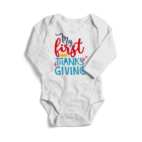 My First Thanksgiving Baby Long Sleeve Bodysuit -
