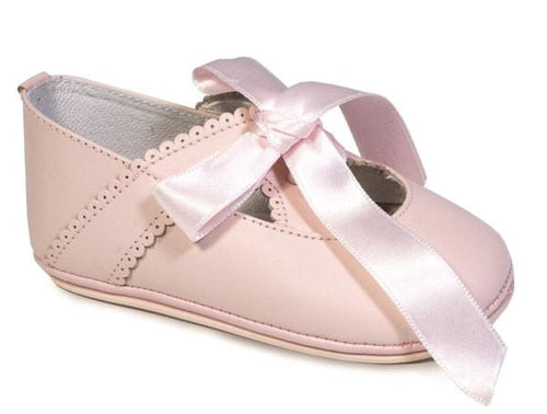 Patucos Infant Classic soft leather Pink Shoes for