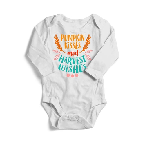 Pumpkin Kisses and Harvest Wishes Baby Long Sleeve