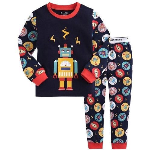 Black Robot Kids Pajamas