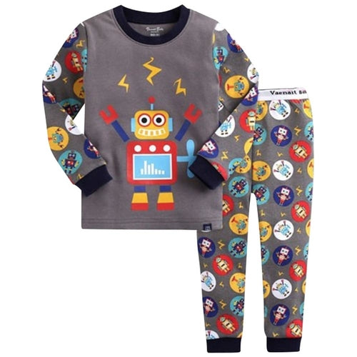 Gray Robot Kids Pajamas