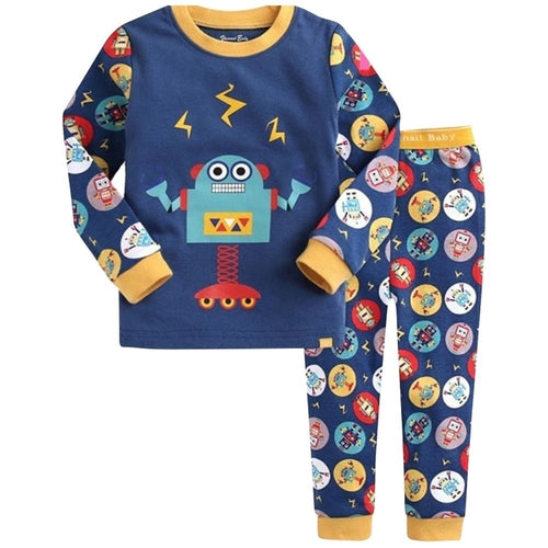 Blue Robot Kids Pajamas
