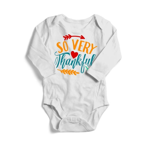 So Very Thankful Baby Long Sleeve Bodysuit -