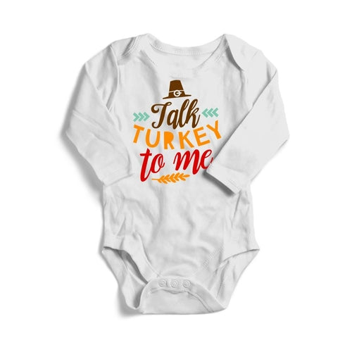 Talk Turkey To Me Baby Long Sleeve Bodysuit -