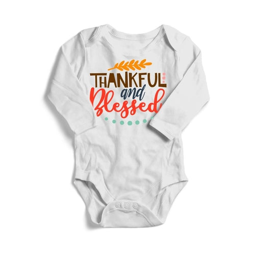 Thankful and Blessed Baby Long Sleeve Bodysuit -
