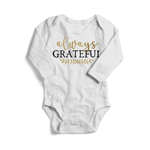 Always Grateful Baby Long Sleeve Bodysuit -