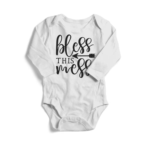 Bless This Mess Baby Long Sleeve Bodysuit