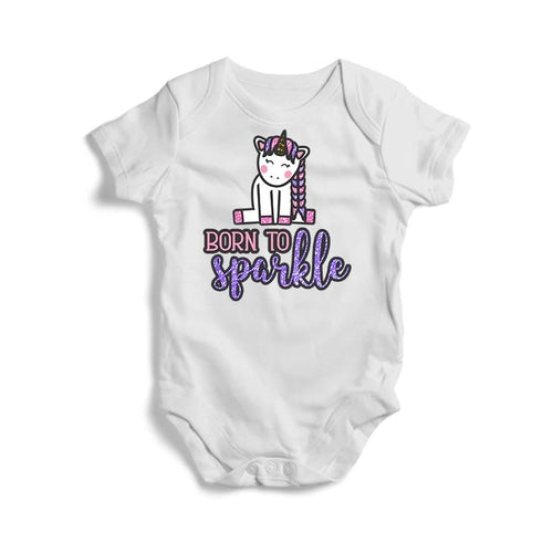 Born to Sparkle Baby Short Sleeve Bodysuit