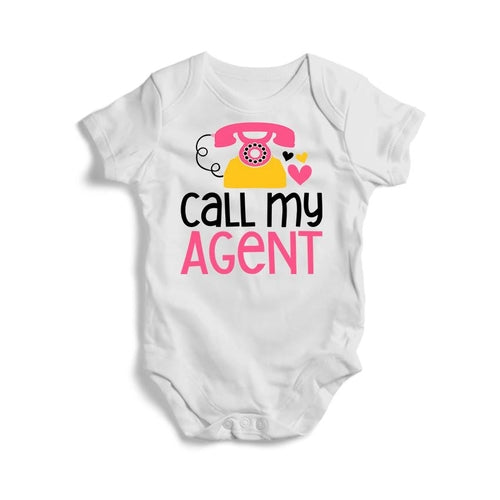 Call My Agent Baby Short Sleeve Bodysuit