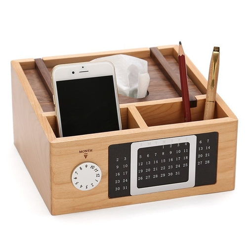 Wooden Calendar Storage Box