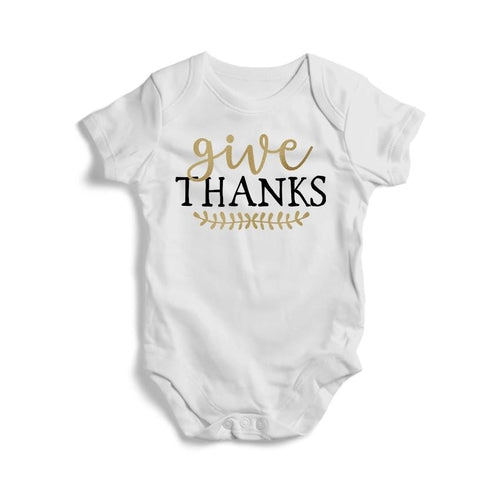 Give Thanks Baby Short Sleeve Bodysuit -
