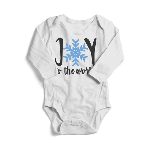 Joy to The World Christmas Baby Long Sleeve