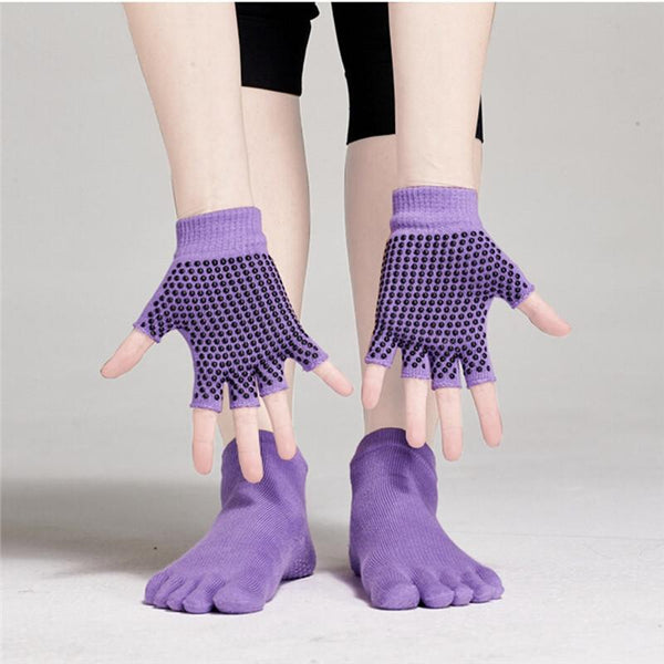 Yoga Socks and Gloves Set