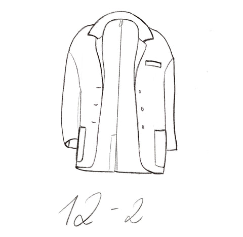 12-2 Cozy jacket technical drawing