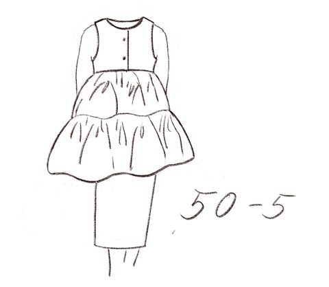 50-5 Flared tiered top technical illustration