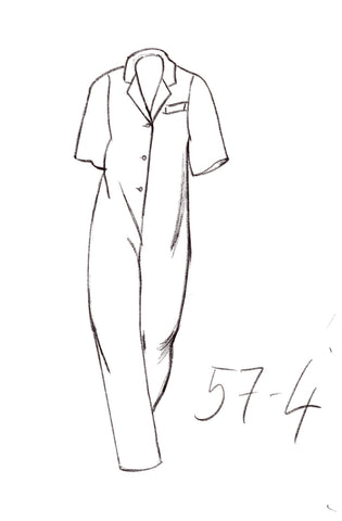 57-4 Wide-fitted overall with lapel collar (***) – print-at-home sewing pattern