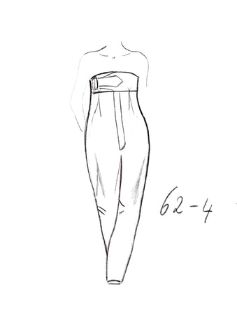 62-4 Loose-fit dungarees with buckle in the front (***) – print-at-home sewing pattern