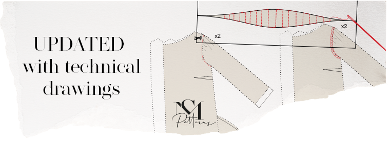 This pattern is updated with technical drawings
