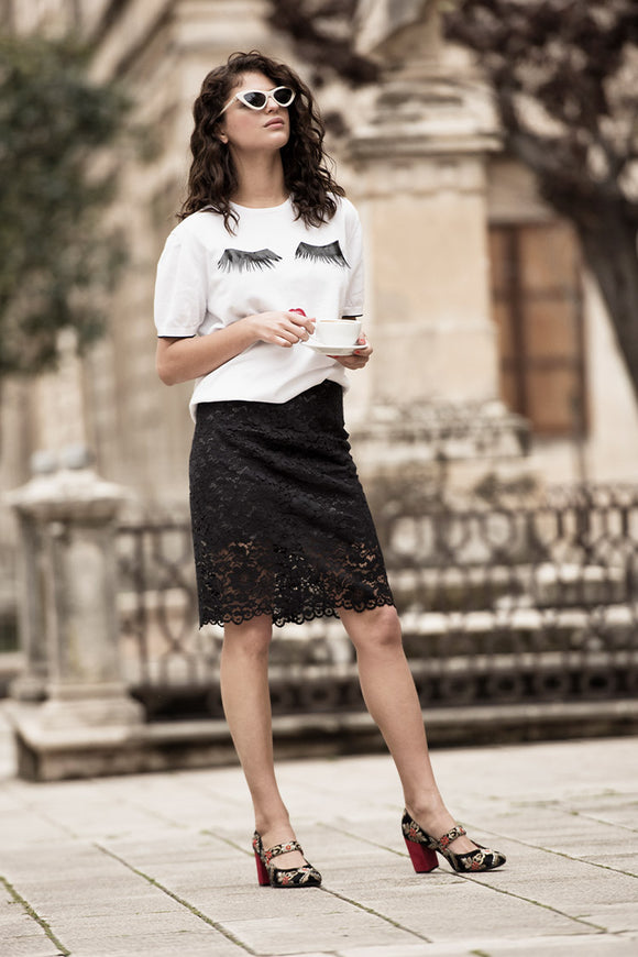 35-3 Lace Skirt (**) - print-at-home sewing pattern
