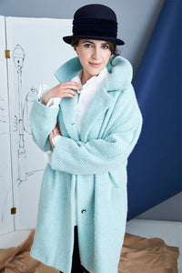 44-1 Winter Coat with big collar (**) - print-at-home sewing pattern