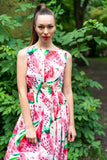 32-1 Backless watermelon dress / long backless ball gown (**)