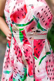 32-1 Backless watermelon dress / long backless ball gown (**) – print-at-home sewing pattern