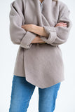 32-5  Wrap jacket with shawl collar made of boiled merino wool (***) – print-at-home sewing pattern