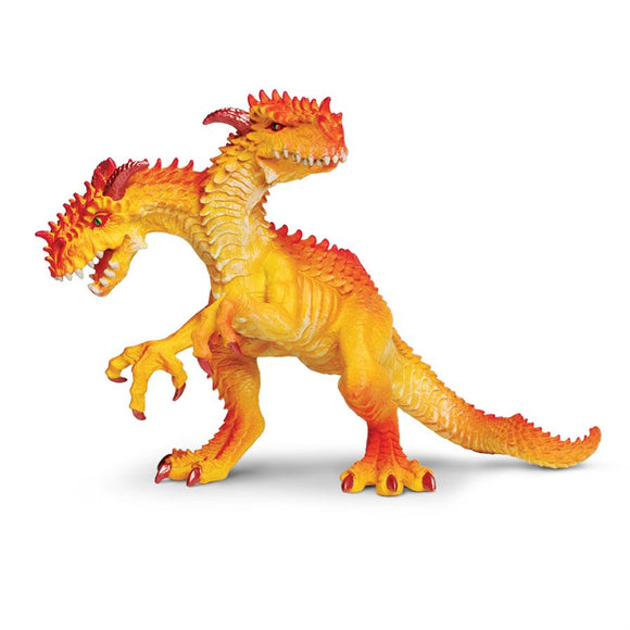 Safari Ltd. Painted Two-Headed Dragon Figure