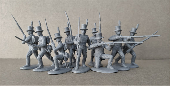 Expeditionary Force War of 1812 US Militia Infantry with Top Hat