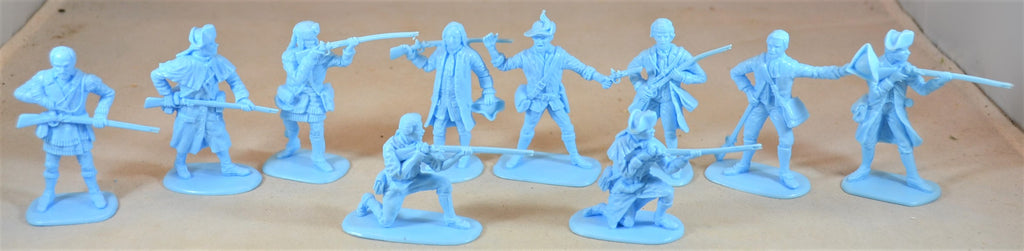 Accurate American Revolution Colonial US Militia Set #1 1776 Light/Powder Blue