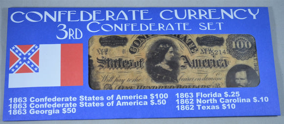 Americana Civil War Confederate Money Replica Set #3