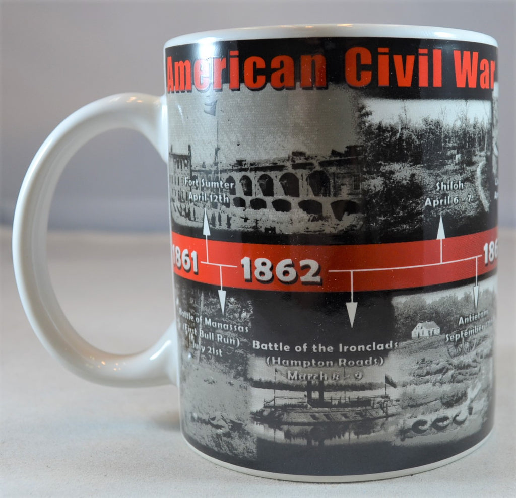 Americana Civil War Timeline Coffee Cup Mug