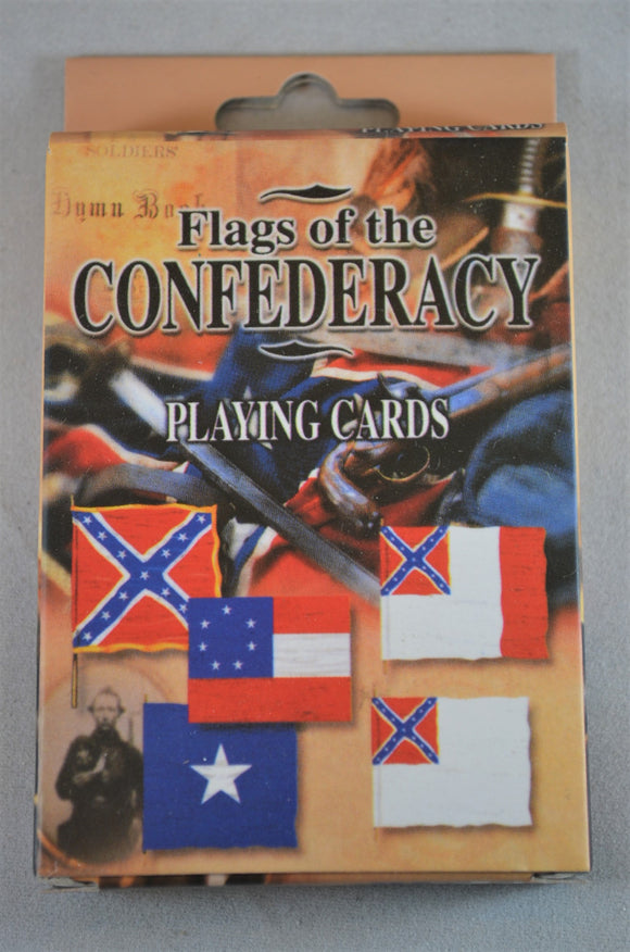 Americana Civil War Flags of the Confederacy Playing Cards