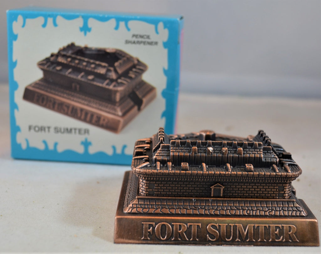 Americana Civil War Fort Sumter Bronze Pencil Sharpener