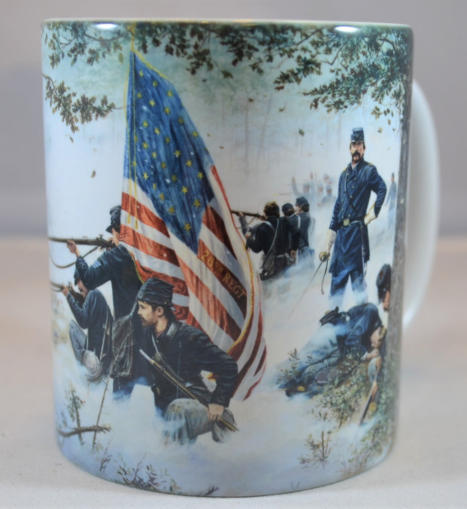 "Americana Civil War Colonel Chamberlain ""Hold at all Costs"" Coffee Cup by Dale Gallon"