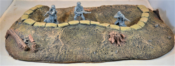 Atherton Scenics Painted WWII WWI Sandbag Defensive Bunker
