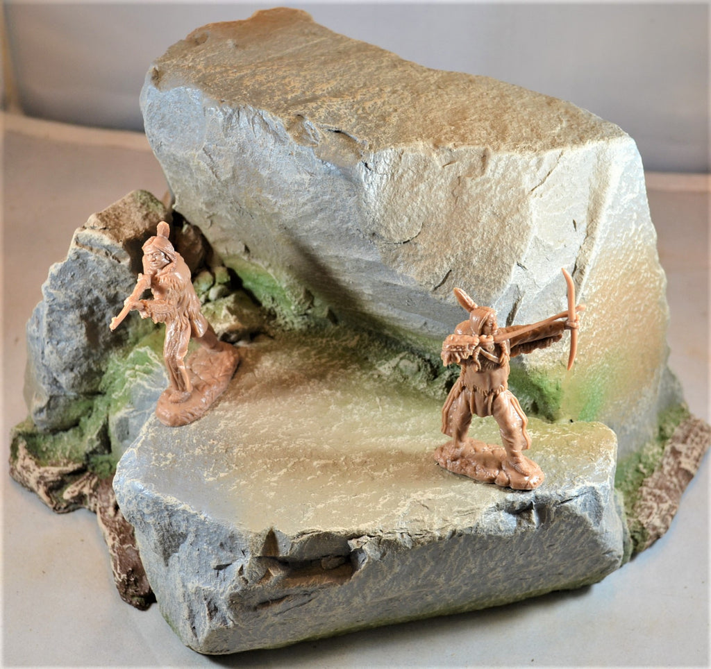 Atherton Scenics Painted Rock Stone Outcropping Diorama Piece