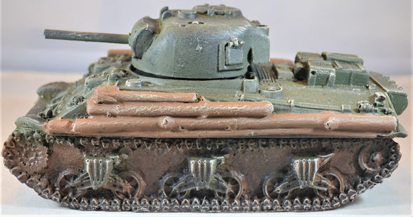 Atherton Scenics Hand Painted WWII US Sherman Tank