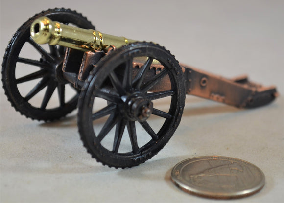 American Revolution Die-cast English 6 lb Field Cannon Americana