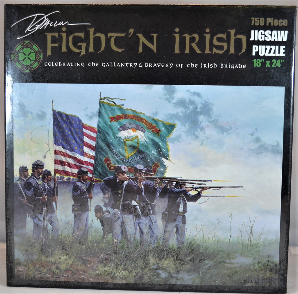 Americana Civil War Union Fight'n Irish Brigade 750 Piece Puzzle