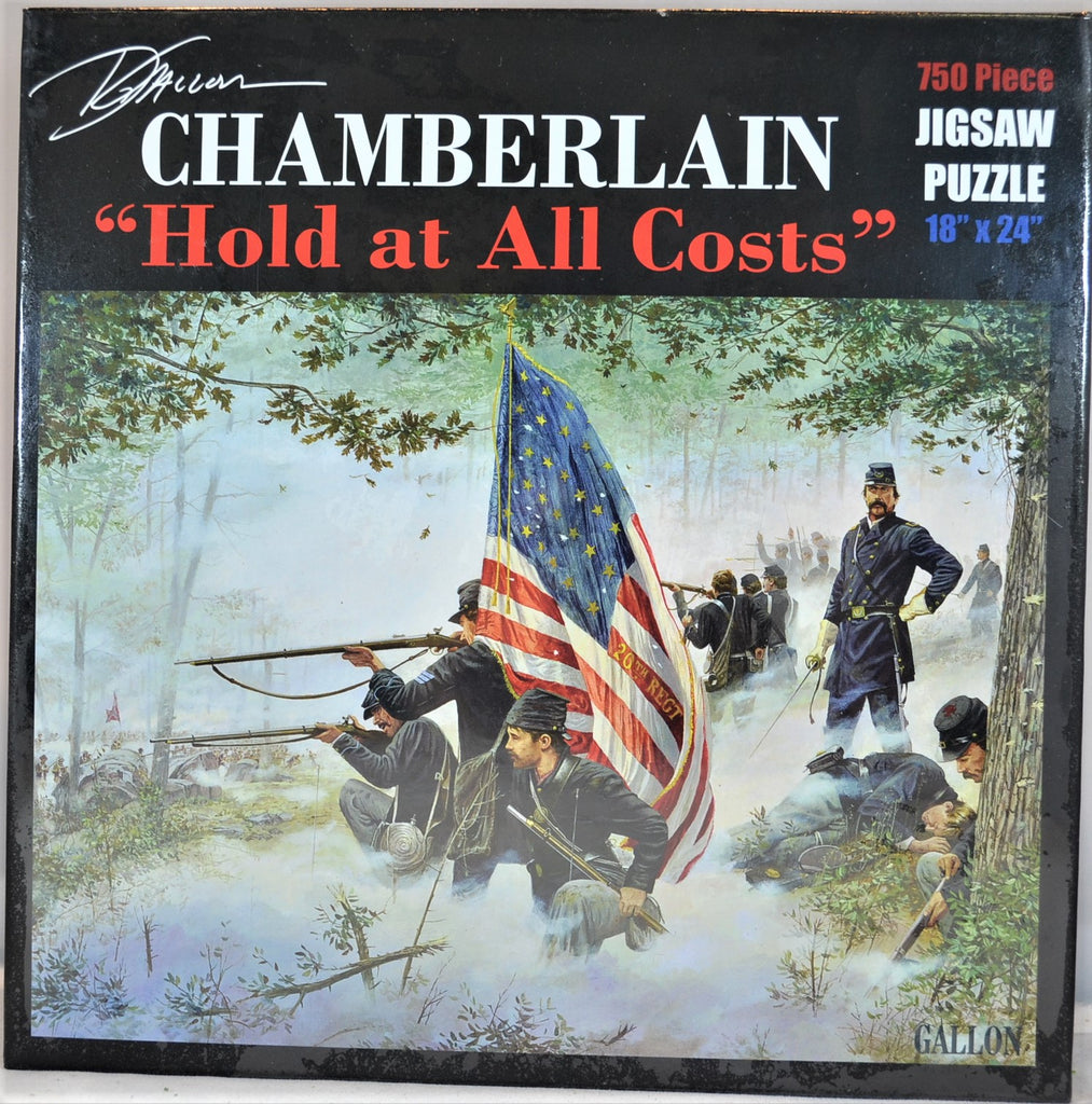 "Americana Civil War Colonel Chamberlain ""Hold at all Costs"" 750 Piece Puzzle by Dale Gallon"
