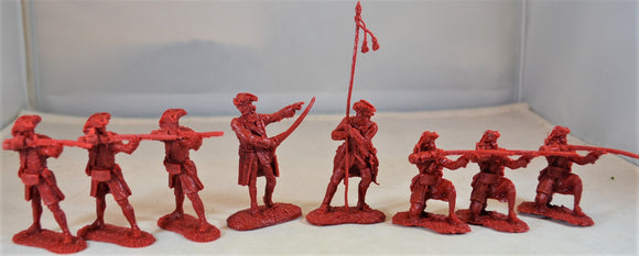 LOD Barzso British French and Indian War Firing Line Red