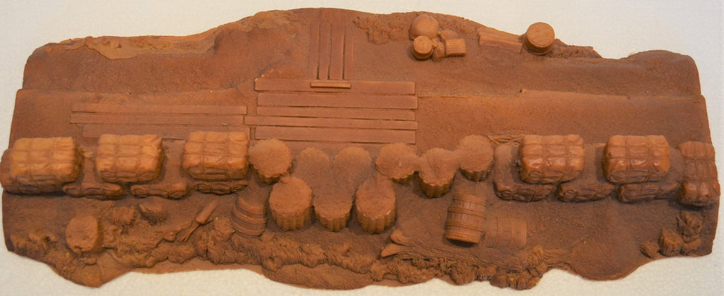 Barzso Vintage Unpainted Battle of New Orleans Playset Fortification Redoubt