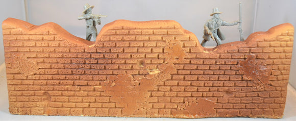 Barzso Vintage Unpainted Fortified Hacienda Playset Wall Section with Oven