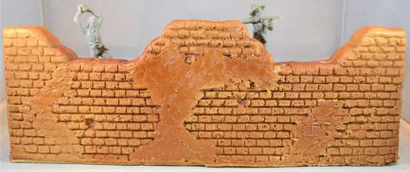 Barzso Vintage Unpainted Fortified Hacienda Playset Standard Wall Section