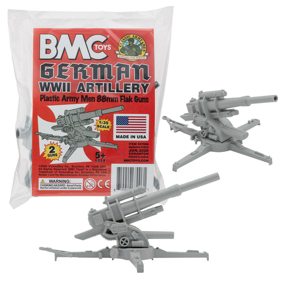 BMC Marx WWII German Battleground 88MM Artillery Cannon
