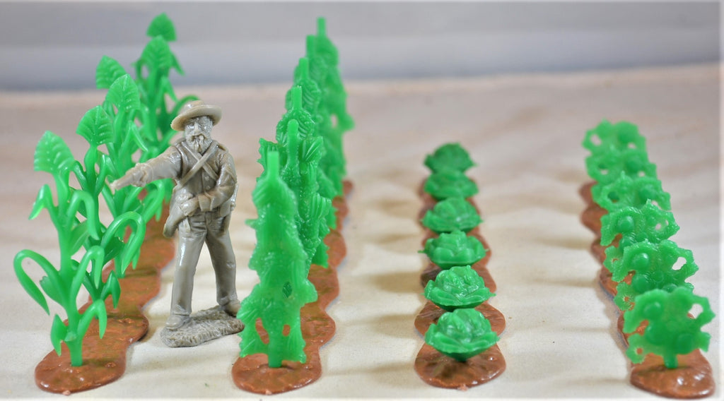 Marx Farm Crop Rows Corn Stalks Tomato Diorama