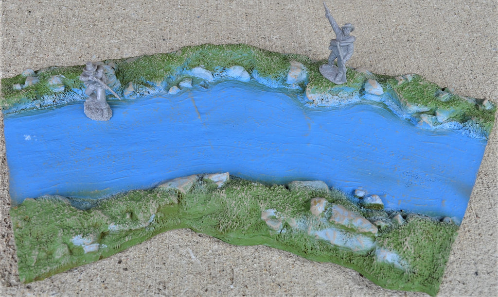 LOD Barzso Painted Curved River - One Section