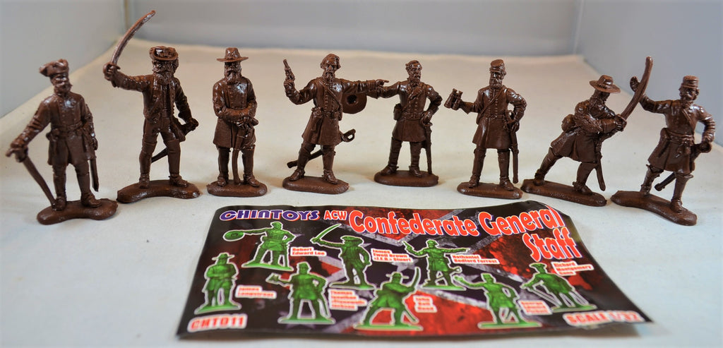 Chintoys Civil War Confederate Generals Set 1 Brown
