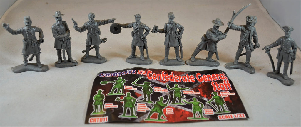 Chintoys Civil War Confederate Generals Set 1 Dark Gray